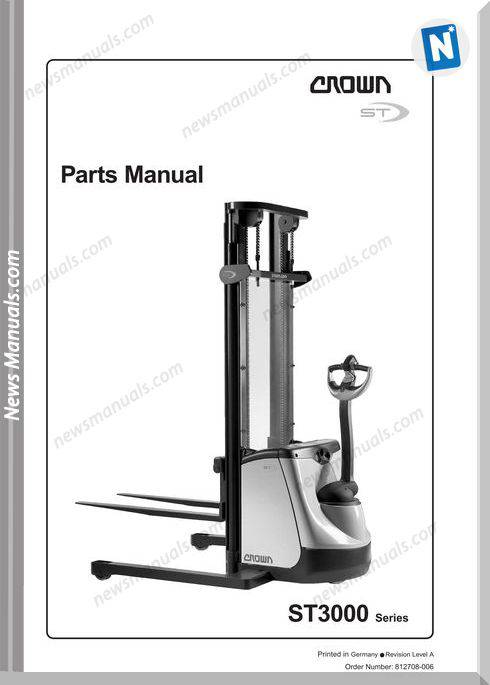 Crown Forklifts Parts Manuals Model St3000 Parts