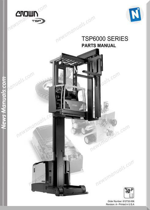 Crown Forklifts Parts Manuals Model Tsp6000 Parts