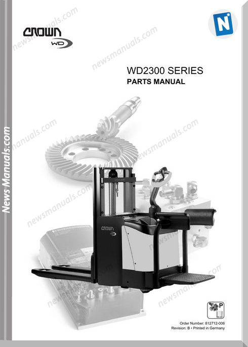 Crown Forklifts Parts Manuals Model Wd2300 Parts