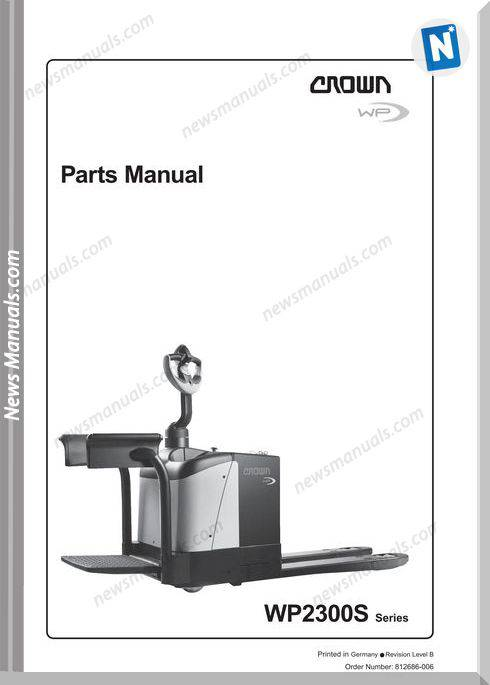 Crown Forklifts Parts Manuals Model Wp2300S Parts
