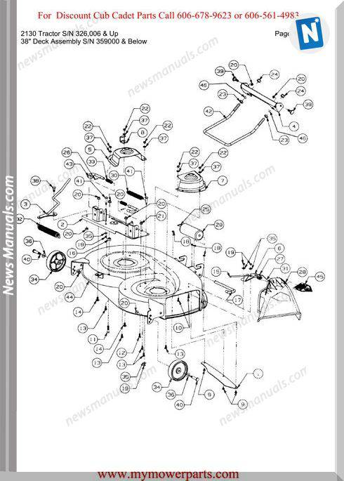 Cub Cadet 2130 Tractor Sn 326006-Up Parts Manual