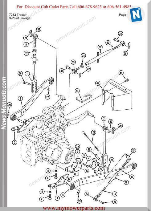 Cub Cadet Parts Manual For Model 7233 Tractor