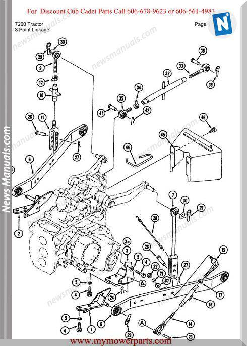 cub cadet parts manual for model 7260 tractor
