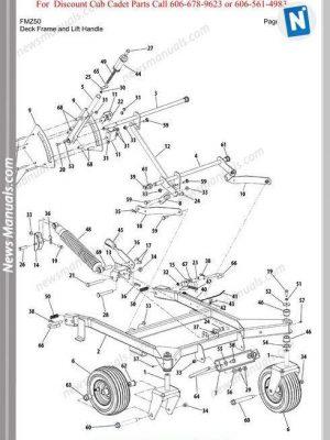Cub Cadet Parts Manual For Model Fmz50