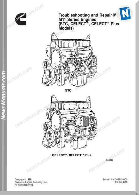 Cummins Diessel Engine M11 Repair Manual