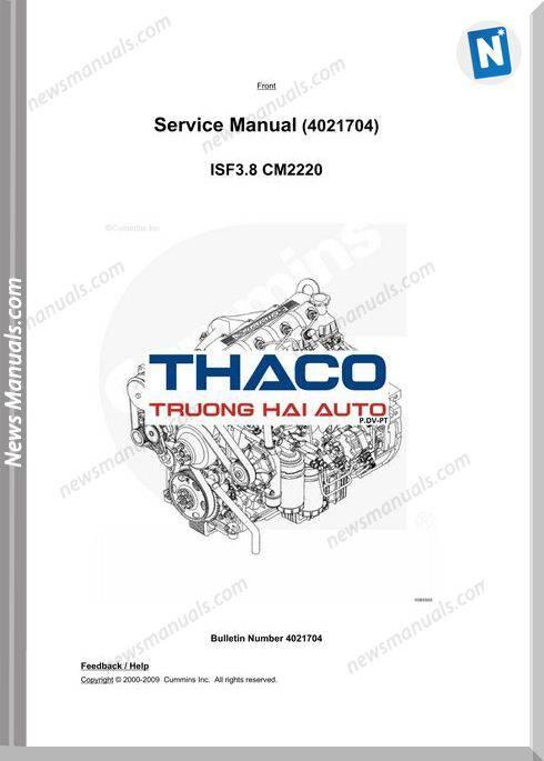 Cummins Engine Cm2220 Service Manuals