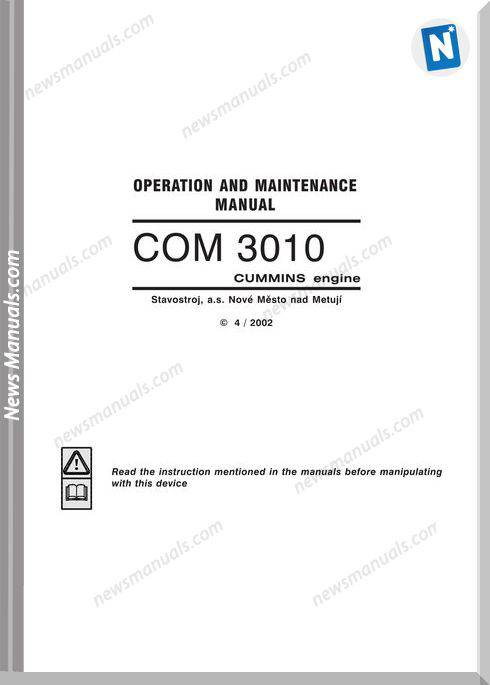 Cummins Engine Com3010A Operation Manual