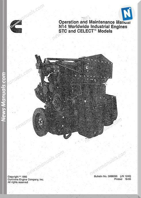 Cummins Engine N14 Operation And Maintenance Manual