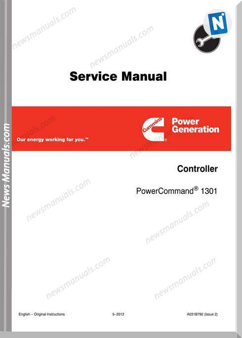 Cummins Power Generation 1301 Service Manual