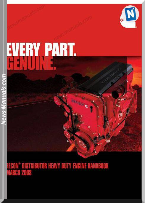 Cummins Recona Distributor Heavy Duty Engine 2008
