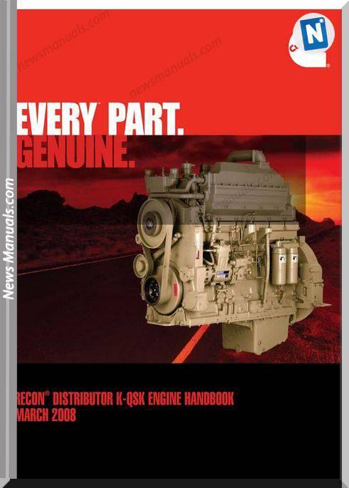 Cummins Reconadistributor K Qsk Engine Handbook