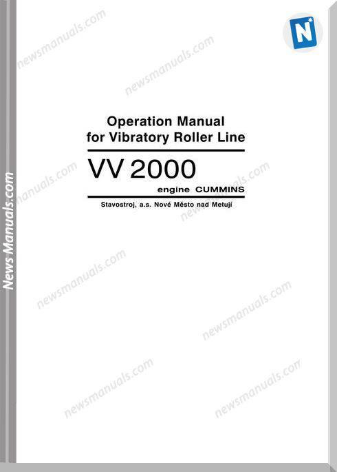 Cummins Vv2004A1 Engine Operation Manual