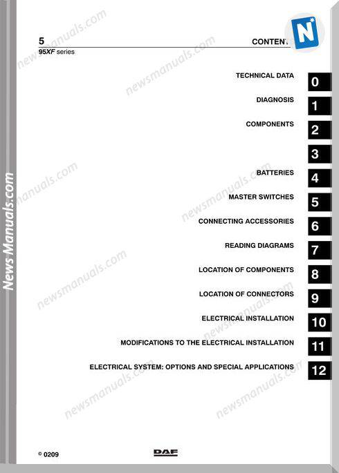 Daf 96Xf Series Workshop Manual