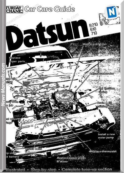 Datsun Car Care Guide B210 610 710