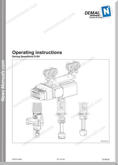 Demag Crane Speedhoist D-Sh Models Operation Manual