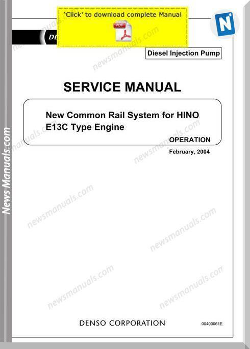 Denso Common Rail Hino E13C Service Manual