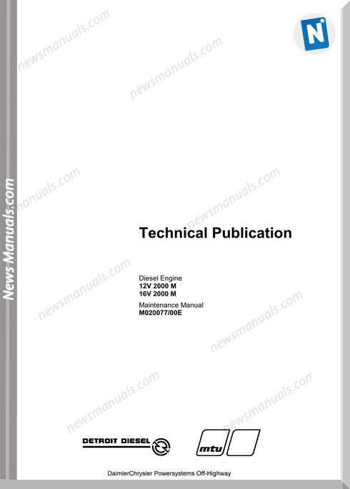 Detroit Diesel 12 16V 2000 M Mtu Engine Manual