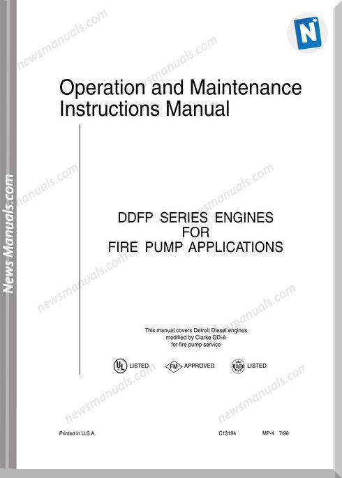 Detroit Diesel Engines Manual