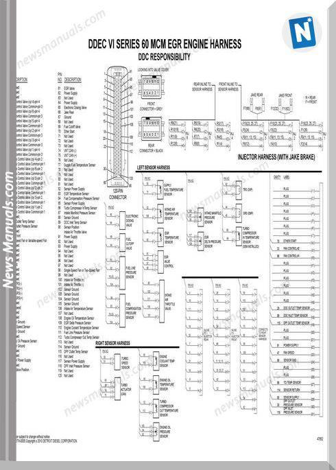 Detroit DieselSeries 50 Harness    Wiring       Diagram