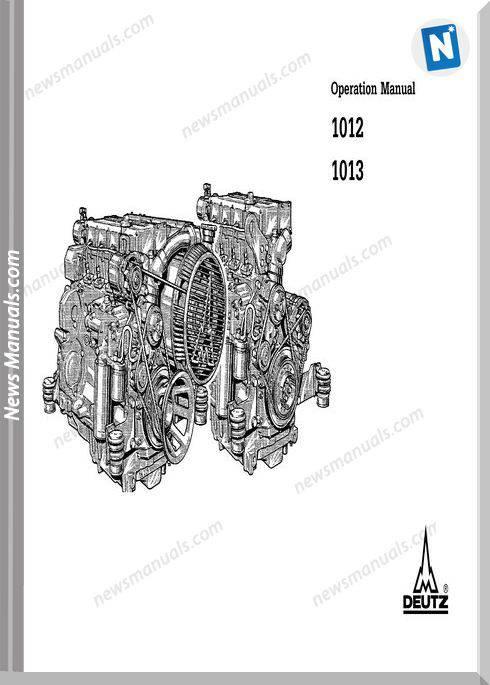 Deutz 1012 1013 Operation Manual