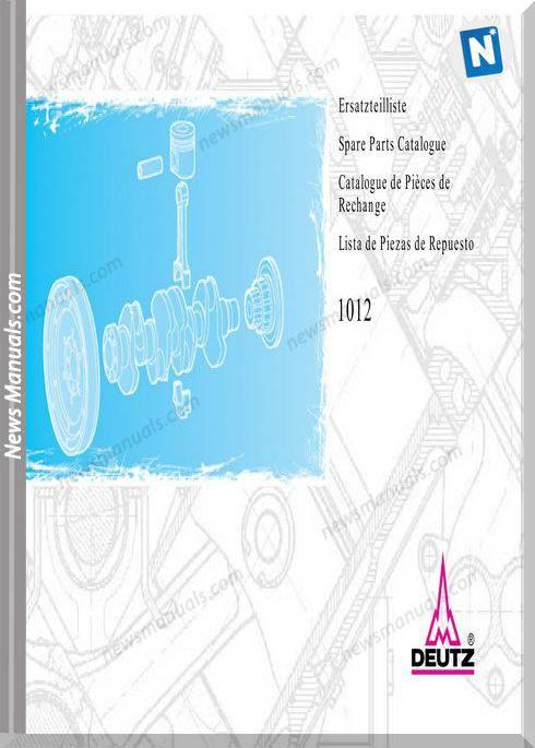 Deutz 1012 Spare Parts Catalogue