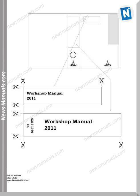 Deutz 2011 Workshop Manuak 03121936
