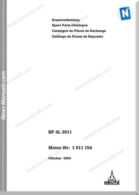 Deutz Bf 4L 2011 Service Manual