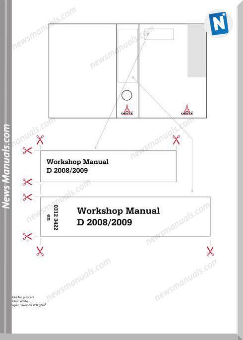 Deutz D 2008 2009 Workshop Manual