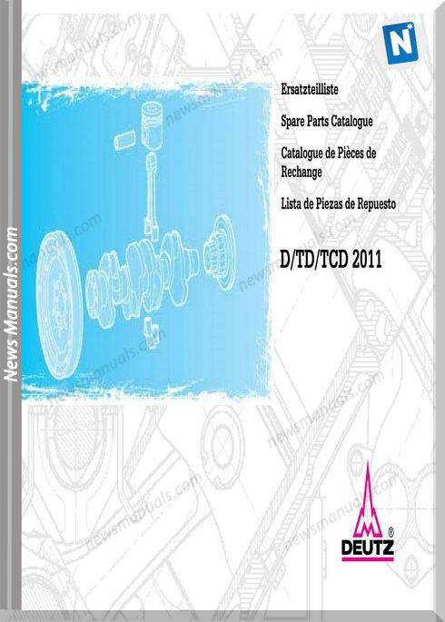 Deutz D Td Tcd 2011 Spare Parts Catalogue