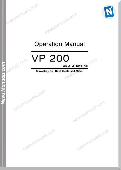 Deutz Engine Vp203A1 Operation Manual