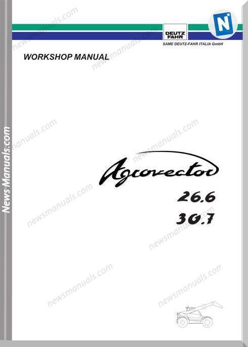 Deutz Fahr Agrovector 26 6 30 7 Workshop Manual