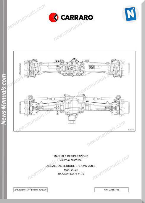 Deutz Fahr Front Axle Agrotron 120 130 Workshop Manual