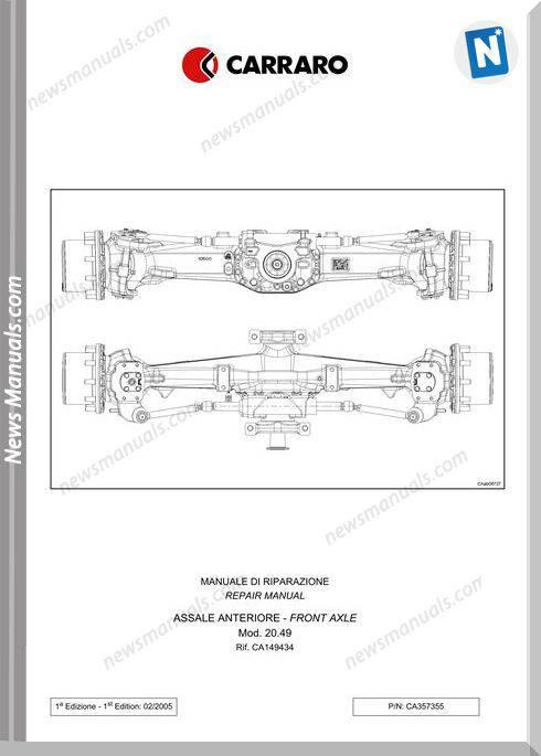 Deutz Fahr Front Axle For Agrotron 210 265 Workshop Manual