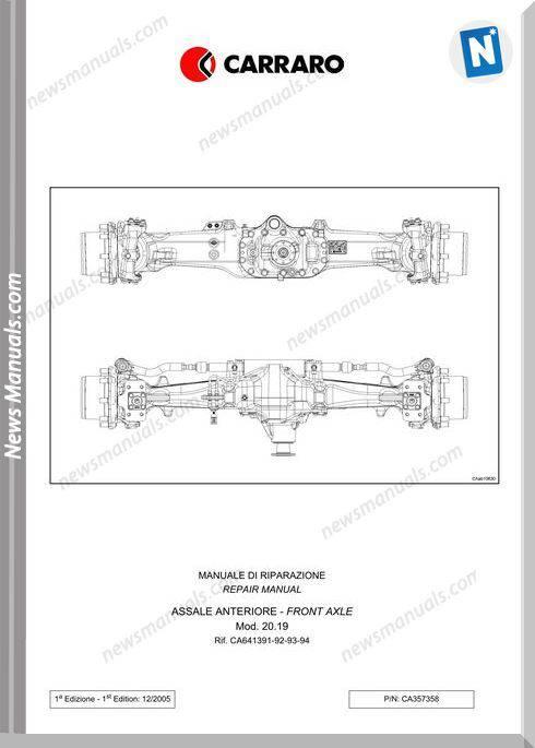 Deutz Fahr Front Axle For Agrotron K90 100 110 120 Workshop Manual