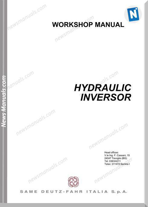 Deutz Fahr Hydraulic Inversor 110 130 Workshop Manual