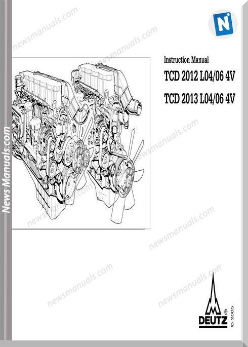 Deutz Tcd 2012 2013 L04 06 4V Instruction Manual