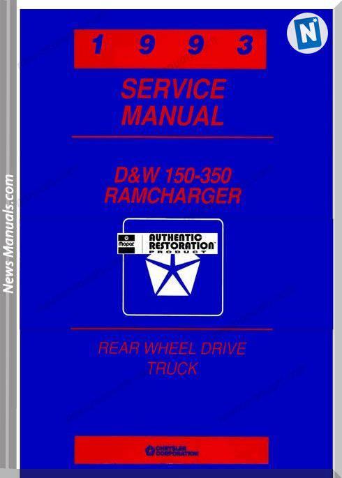 Dodge Truck Service Manual 1993 Rwd