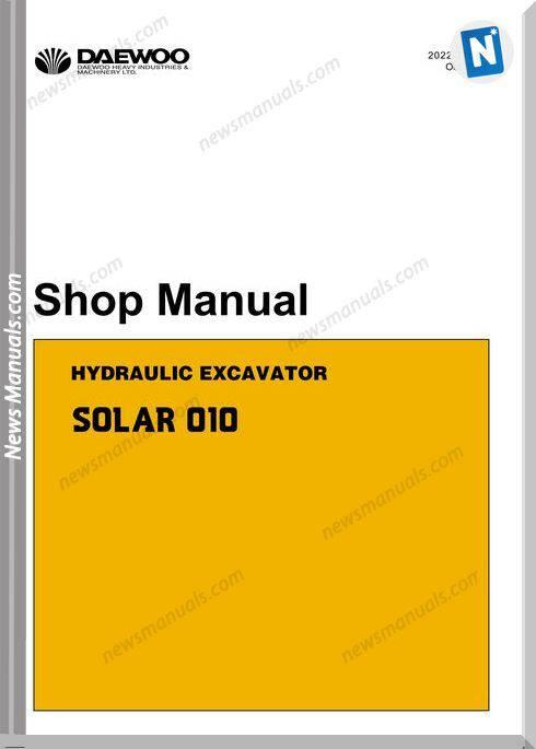 Doosan Crawled Excavators S010 Shop Manual