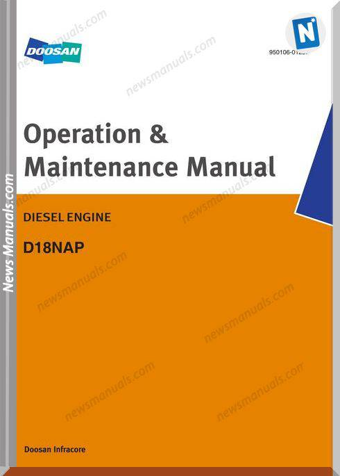 Doosan Engine D18Nap Operation And Maintenance Manual
