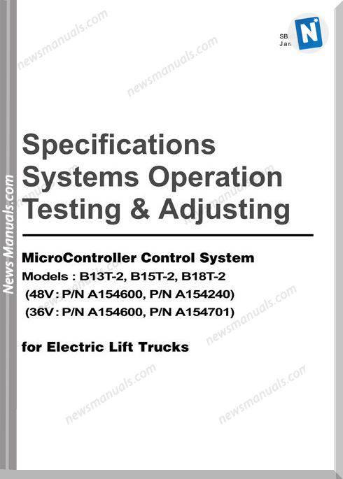 doosan forklift truck testing adjusting microcontroller control system manual b13t 2 b15t 2 b18t 2