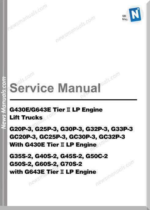 Doosan Forklift G35 50 Tier 2 Service Manual