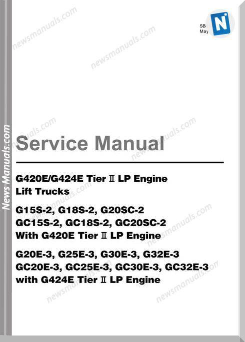 Doosan Forklift Gc15 20 Tier 2 Service Manual