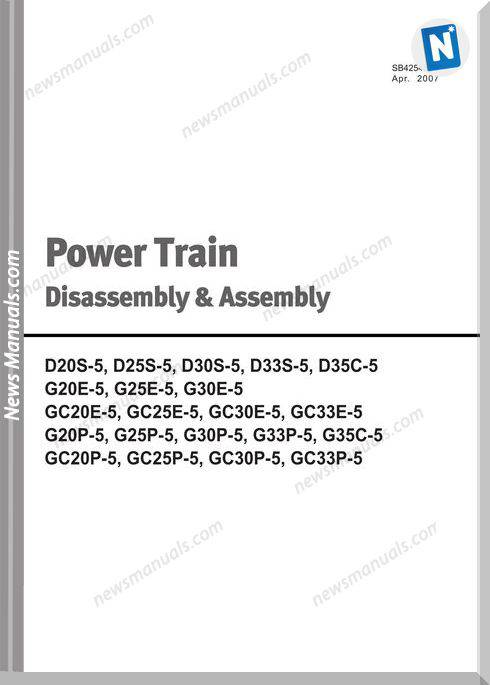 Doosan Forklift Power Train Disassembly Assembly