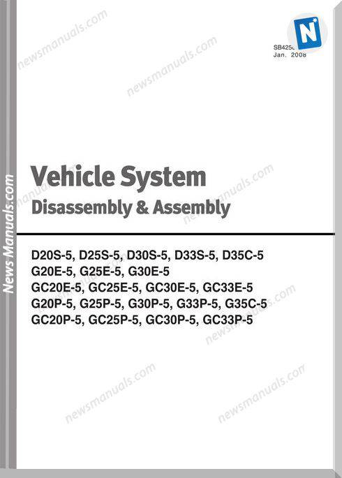 Doosan Forklift Vehicle System Disassembly And Assembly