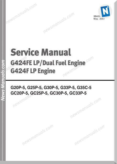 Doosan G424Fe Lpdual Engine G424F Lp Service Manual