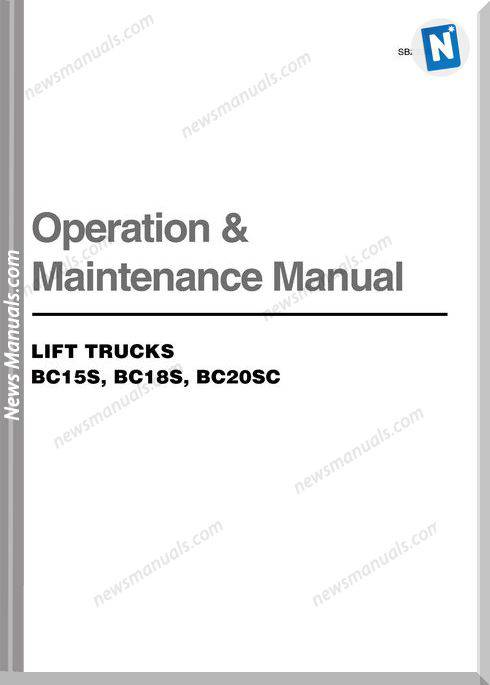Doosan Lift Truck Bc15S Bc18 Bc20Sc Maintenance Manual