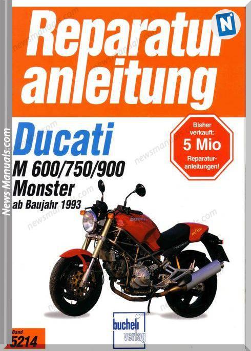 Ducati Monster 600 750 900 1993 Service Manual German