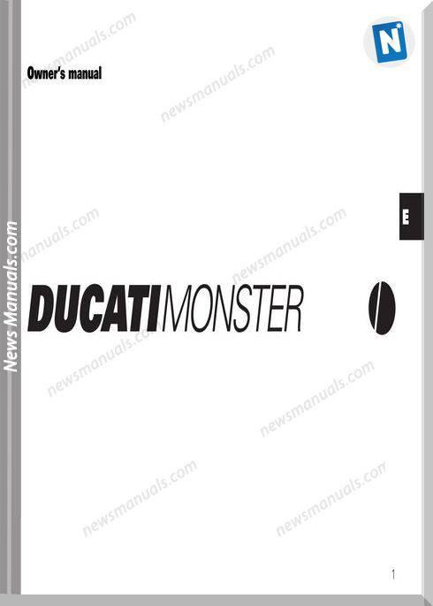 Ducati Monster 99 Owners Manual General