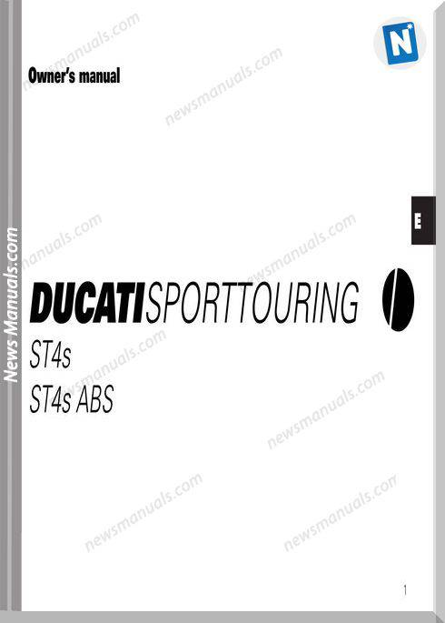 Ducati St4S St4S Abs 04 Owners Manual