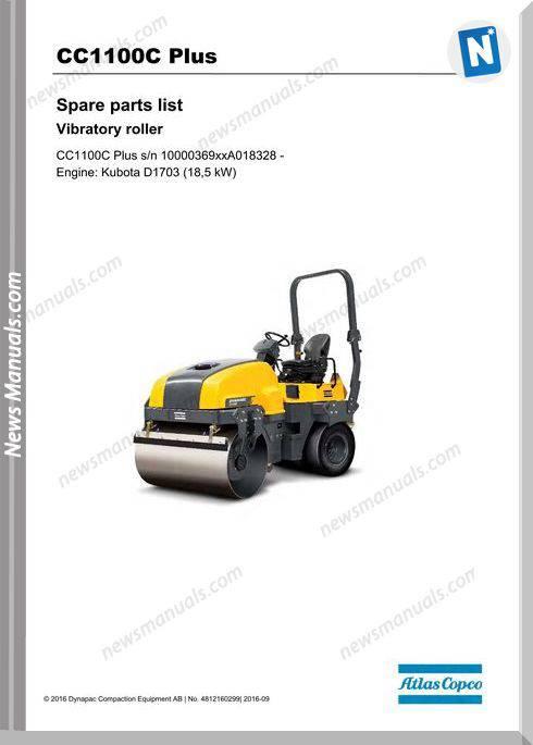 Dynapac Cc100C Vibratory Roller Parts Manual